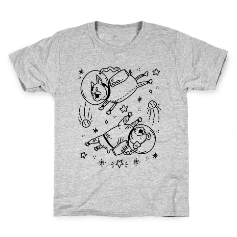 Dogs In Space Kids T-Shirt