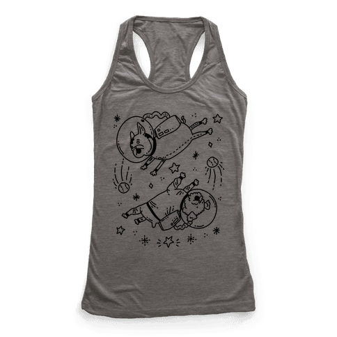 Dogs In Space Racerback Tank Top