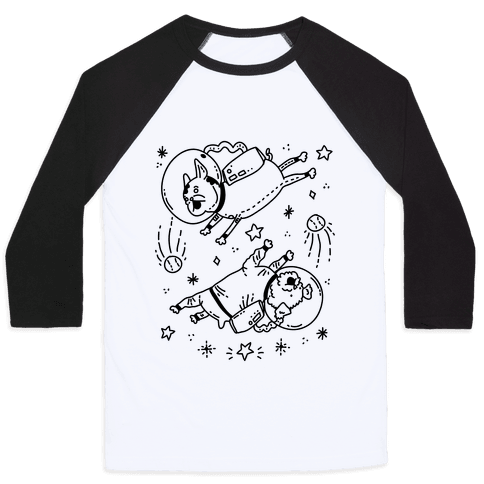 Dogs In Space Baseball Tee