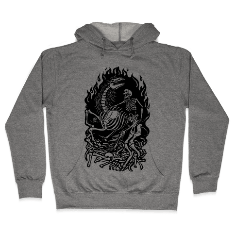 Skeleton War Hooded Sweatshirt