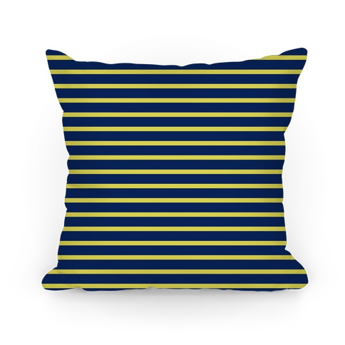 Ravenclaw House Stripe Pattern Pillow