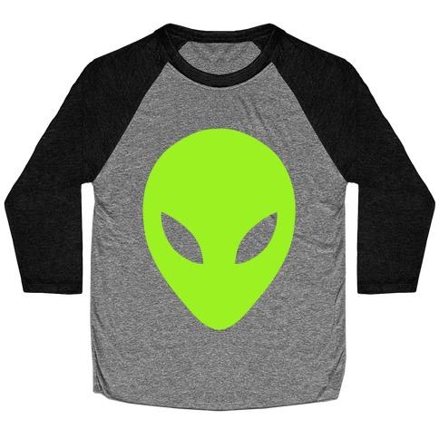 Alien Head Baseball Tee