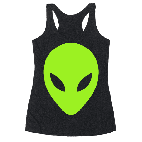 Alien Head Racerback Tank Top