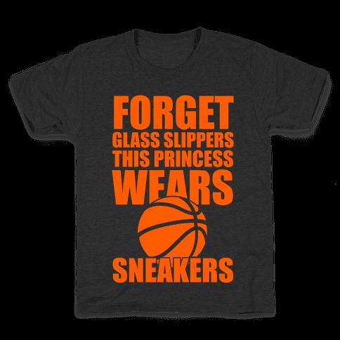 This Princess Wears Sneakers (Basketball) Kids T-Shirt