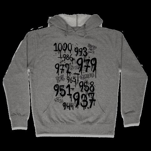 1000 Minus 7 Hooded Sweatshirt