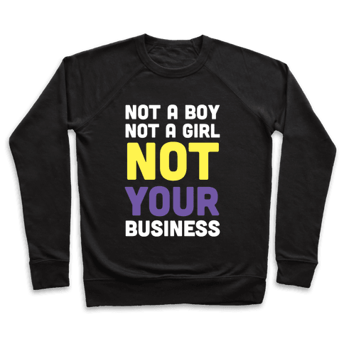 Not a Boy, Not a Girl, Not Your Business Pullover