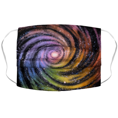 Galactic Rainbows Accordion Face Mask