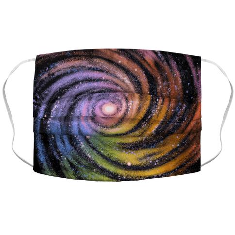 Galactic Rainbows Accordion Face Mask
