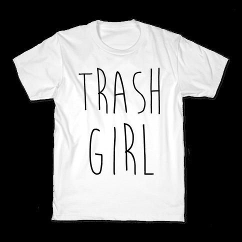 Trash Girl Kids T-Shirt