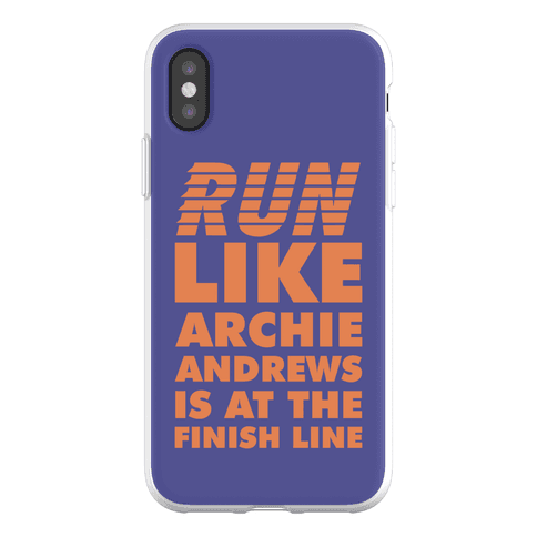 Run like Archie is at the Finish Line Phone Flexi-Case