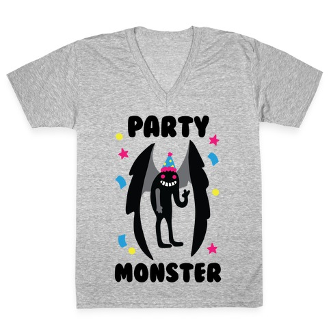 Party Monster : Mothman V-Neck Tee Shirt