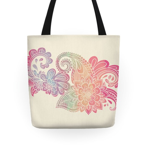 Rainbow Lotus Henna Inspiration Tote