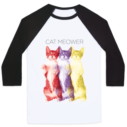 Cat Meower Baseball Tee