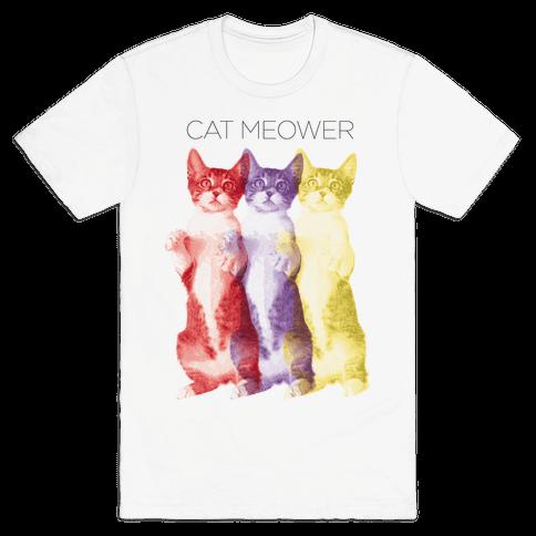 Cat Meower Mens T-Shirt