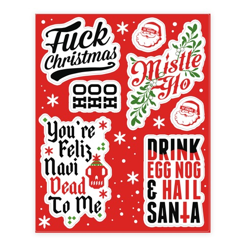 Sassy Christmas Sticker and Decal Sheet