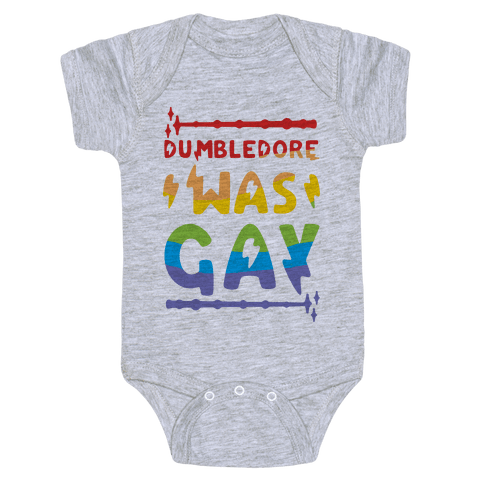 Dumbledore Was Gay Baby Onesy