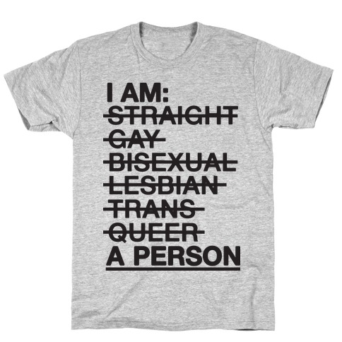 I am a Person Mens T-Shirt