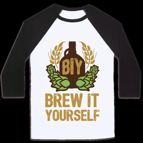 Brew It Yourself Baseball Tee