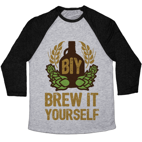 Brew It Yourself Baseball Tee