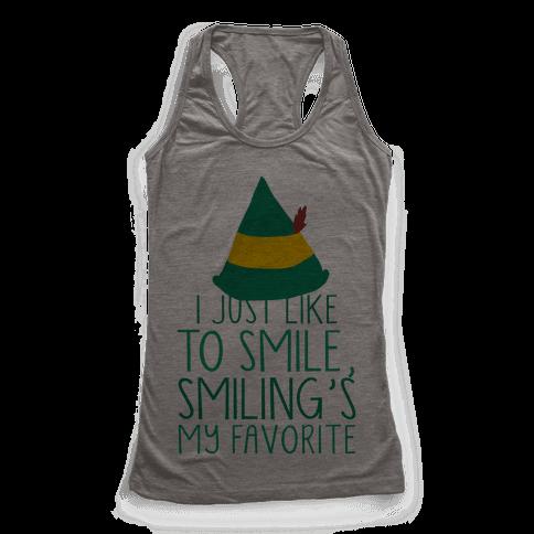 Smiling's My Favorite Racerback Tank Top