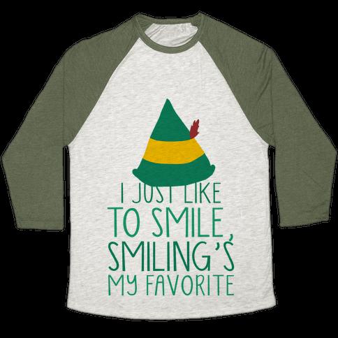 Smiling's My Favorite Baseball Tee