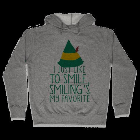 Smiling's My Favorite Hooded Sweatshirt