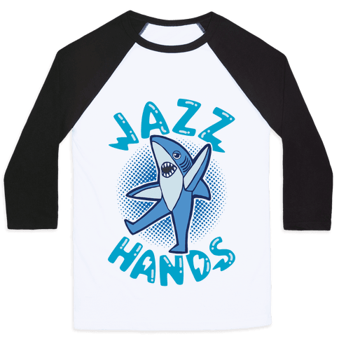 Left Shark Jazz Hands Baseball Tee