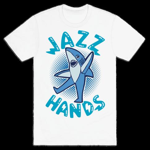 Left Shark Jazz Hands Mens T-Shirt