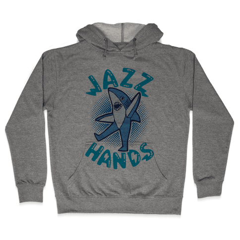 Left Shark Jazz Hands Hooded Sweatshirt