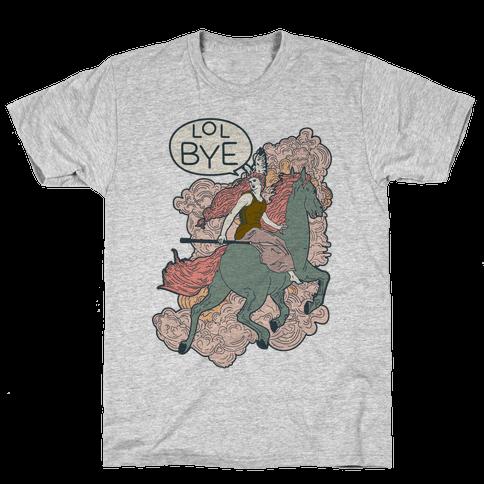 Lol Bye Valkyrie Mens T-Shirt