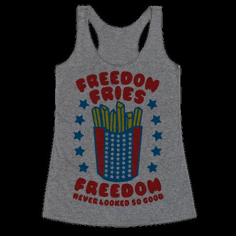 Freedom Fries Racerback Tank Top