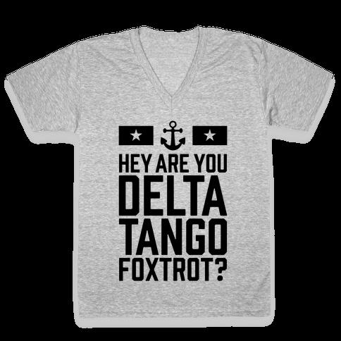 Delta Tango Foxtrot (Navy) V-Neck Tee Shirt