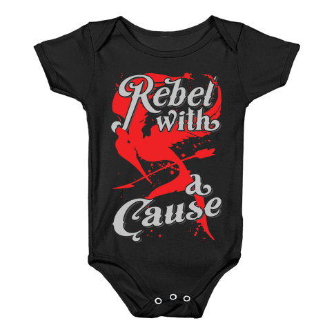 Rebel With A Cause Baby Onesy