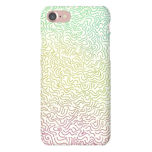 Doodle Lines Pattern Phone Case