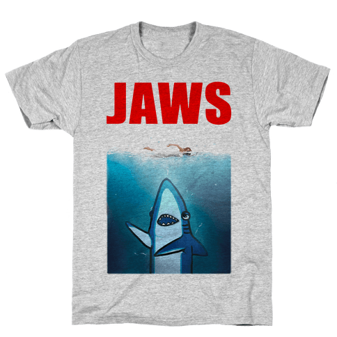 Left Shark Jaws Parody Mens T-Shirt