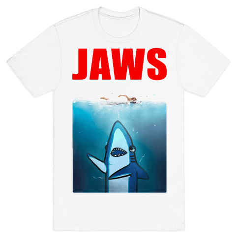 Left Shark Jaws Parody Mens T-Shirt