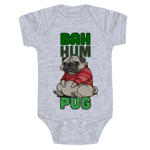 Bah Hum Pug Baby Onesy