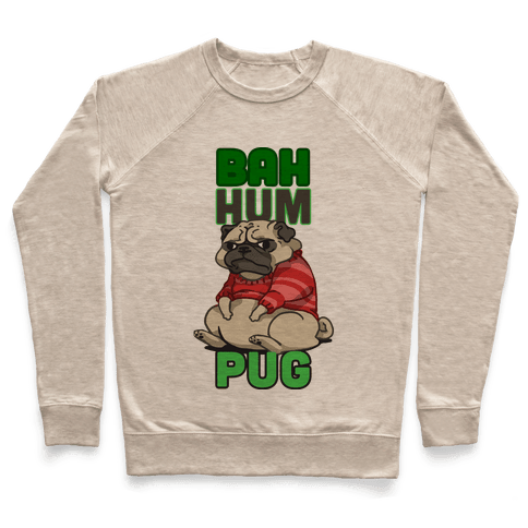 Bah Hum Pug Pullover