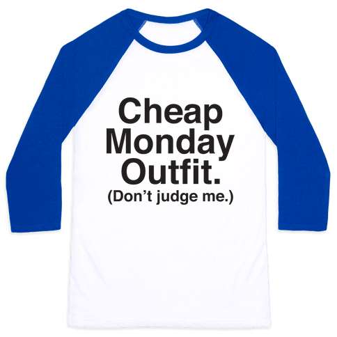 Cheap Monday Outfit (Don't Judge Me) Baseball Tee