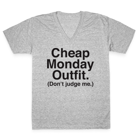 Cheap Monday Outfit (Don't Judge Me) V-Neck Tee Shirt