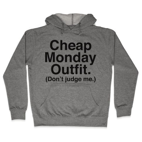 Cheap Monday Outfit (Don't Judge Me) Hooded Sweatshirt