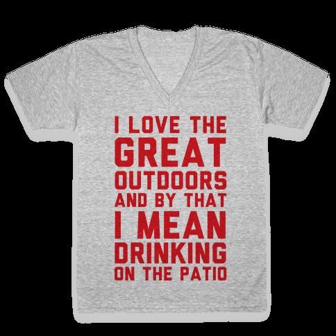 I Love The Great Outdoors V-Neck Tee Shirt