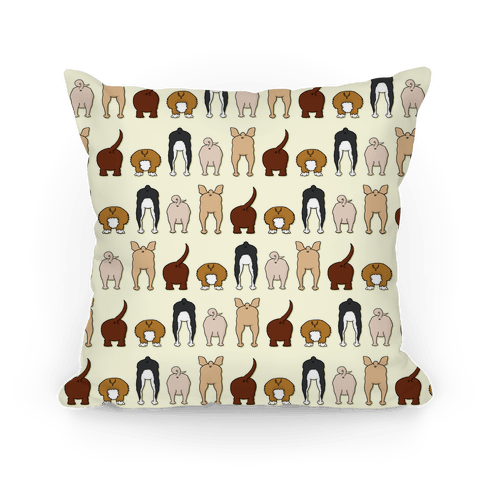 Dog Butt Pattern Pillow