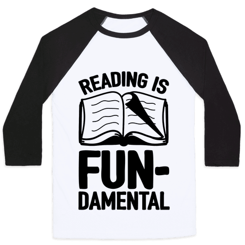 Reading Is Fundamental Baseball Tee