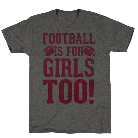 Football Is For Girls Too! (Pink) Mens T-Shirt
