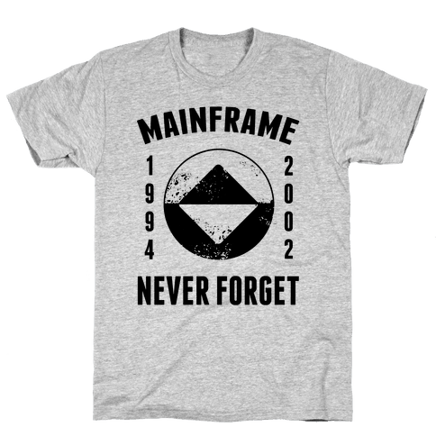 Reboot Mainframe Never Forget Mens T-Shirt