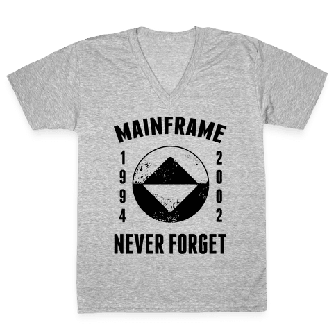 Reboot Mainframe Never Forget V-Neck Tee Shirt