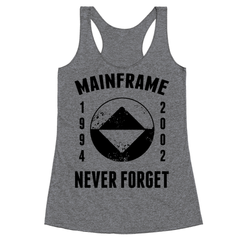 Reboot Mainframe Never Forget Racerback Tank Top