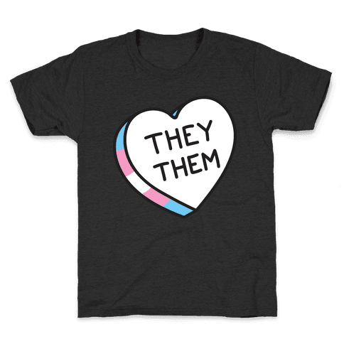 They Them Candy Heart Kids T-Shirt