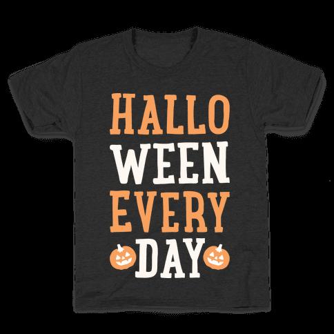 Halloween Every Day (White) Kids T-Shirt